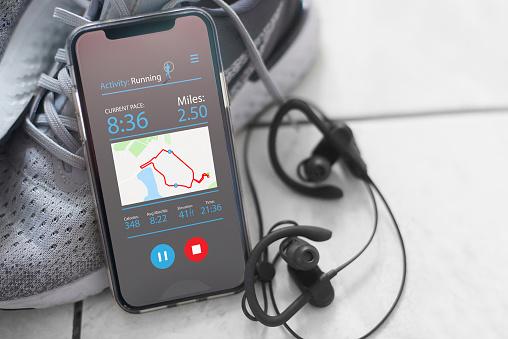 Shoe「Recording runs on app」:スマホ壁紙(4)