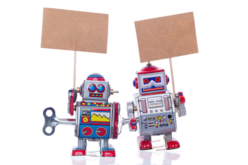 Working「Vintage tin robots」:スマホ壁紙(1)