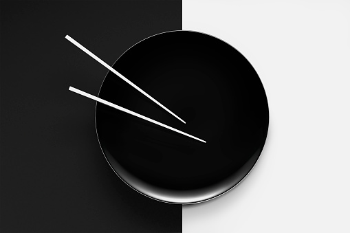 Contrasts「Empty plate with chopsticks」:スマホ壁紙(18)