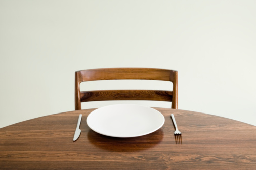 Empty Plate「Empty plate with knife and fork on table」:スマホ壁紙(3)
