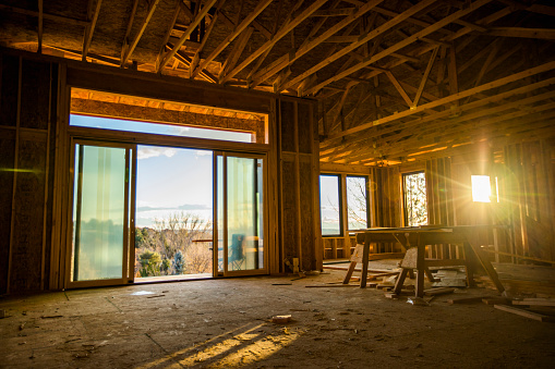 Carpentry「House with scenic view under construction」:スマホ壁紙(6)