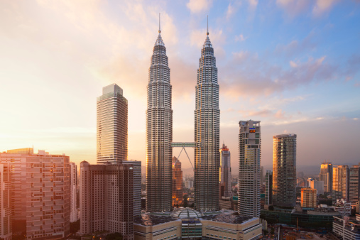 Tower「Petronas Twin Towers at sunset」:スマホ壁紙(15)