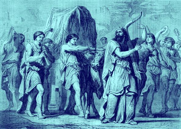 Musical instrument「David bringing the ark from Kirjath - Jearim」:写真・画像(17)[壁紙.com]