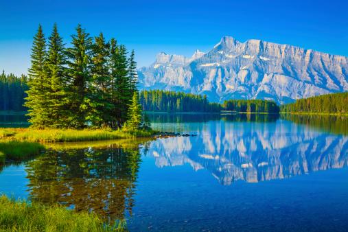 National Landmark「Two Jack Lake, Mount Rundle, Banff National Park Canada」:スマホ壁紙(18)