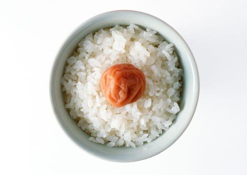 Japanese Food「Rice with Pickled Plum」:スマホ壁紙(10)