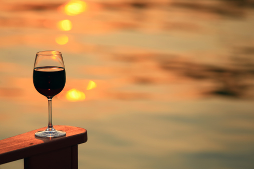 Adirondack Chair「Glass of Red Wine by the Lake」:スマホ壁紙(18)