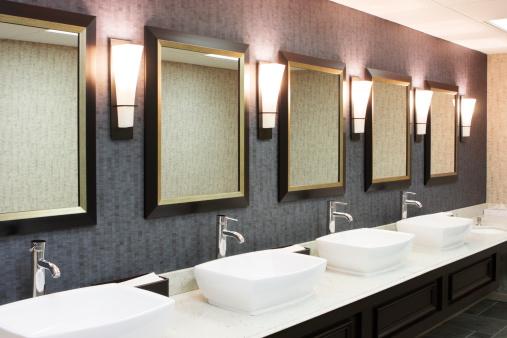 Public Restroom「Restroom Luxury Hotel Restaurant Decor」:スマホ壁紙(10)