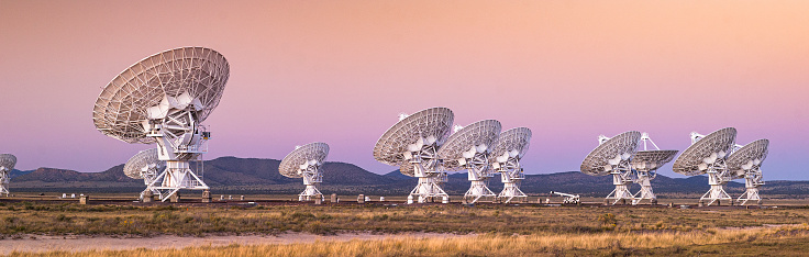 Outer Space「Space observatory radio telescope panoramic」:スマホ壁紙(8)