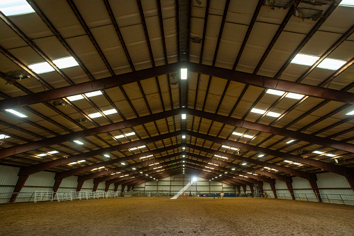 Agricultural Building「Symmetrical View of the Inside of a Farm Building」:スマホ壁紙(5)