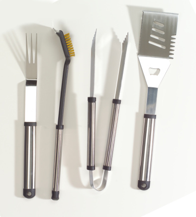 Eating Utensil「Chrome BBQ tool set」:スマホ壁紙(19)