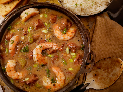 Southern Food「Shrimp and Sausage Gumbo」:スマホ壁紙(4)