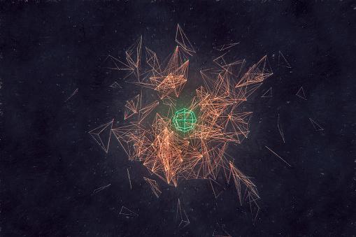 Data「Retro abstract geometric shapes」:スマホ壁紙(3)