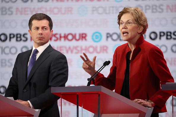Justin Sullivan「Democratic Presidential Candidates Participate In Last Debate Of 2019」:写真・画像(6)[壁紙.com]