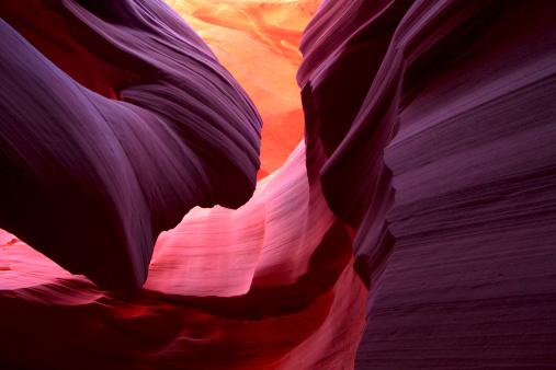 Orange Color「Landscape image of lower Antelope Canyon in stunning colors」:スマホ壁紙(13)