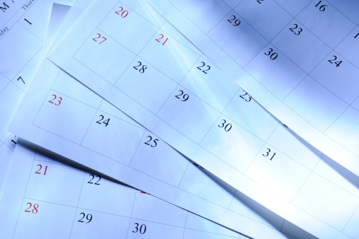 Diary「Blue tinted image of some calendars with light rays」:スマホ壁紙(19)