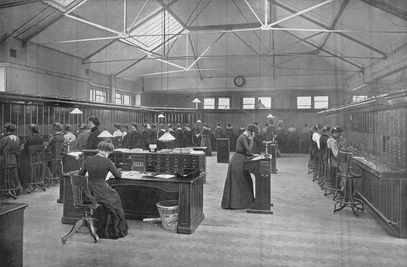 Furniture「In the Post Office Central Telephone Exchange, City of London, c1903 (1903)」:写真・画像(2)[壁紙.com]