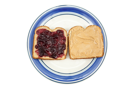 Nut - Food「Peanut Butter and Jelly on Plate」:スマホ壁紙(11)