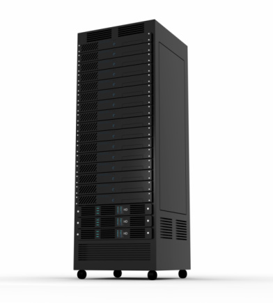 Network Server「Black box shaped server on caster wheels」:スマホ壁紙(18)