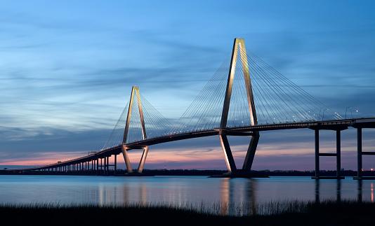 Steel Cable「Ravenel Bridge (Cooper River Bridge) in Charleston SC」:スマホ壁紙(3)