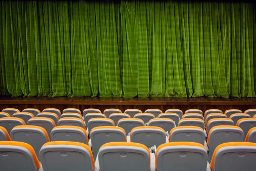 Velvet「Green color velvet curtain and seats」:スマホ壁紙(19)