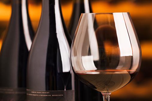 Tasting「Winetasting Red Wine Glass and Bottles in Cellar for Tasting」:スマホ壁紙(6)