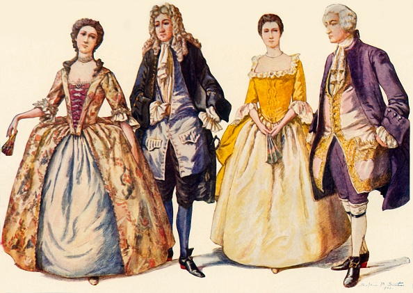 White Background「Clothing Reigns Of Queen Anne And George I」:写真・画像(15)[壁紙.com]