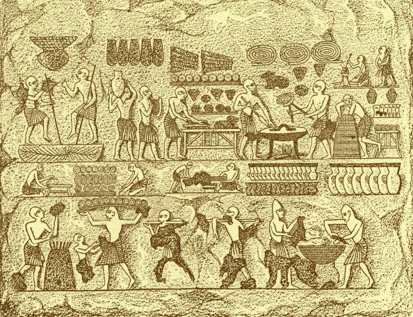 Bread「Ancient Egyptians baking bread」:写真・画像(19)[壁紙.com]