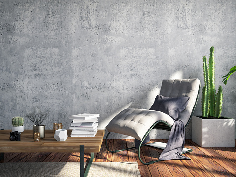 Classical Style「Interior with Lounge Chair」:スマホ壁紙(17)