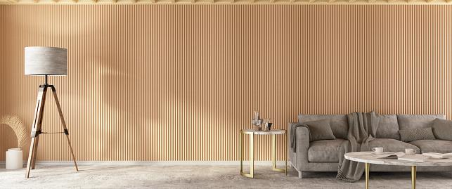 木製「ソファパノラマ付きインテリア」:スマホ壁紙(11)