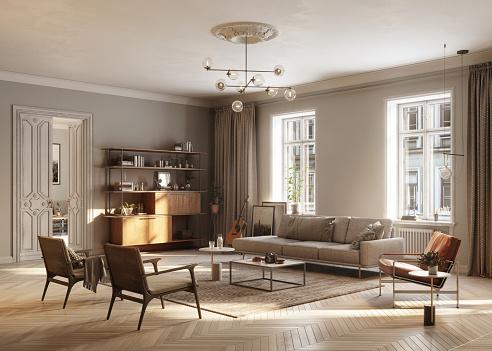 Loft Apartment「Full Furnished living Room」:スマホ壁紙(18)