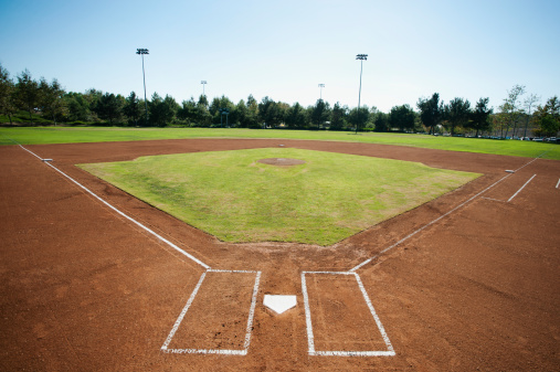 Sports Field「USA, California, Ladera Ranch, baseball diamond」:スマホ壁紙(5)