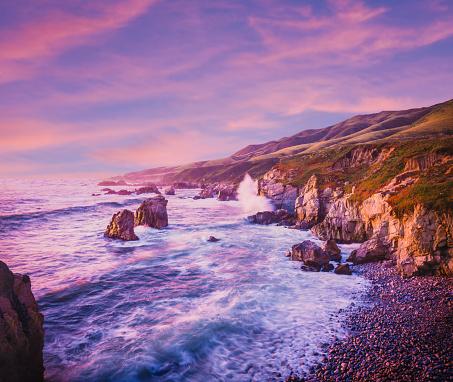 California State Route 1「California coastline at dusk」:スマホ壁紙(0)