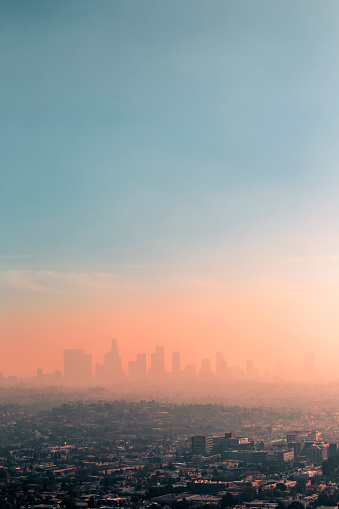 Climate Change「USA, California, Los Angeles, smog over Los Angeles」:スマホ壁紙(7)