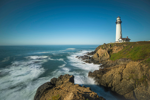 California State Route 1「California coast with Pigeon Point Lighthouse」:スマホ壁紙(10)