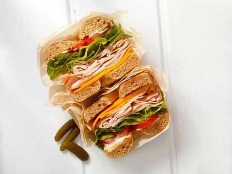 Stuffing - Food「Deli Style Turkey Bagel Sandwich」:スマホ壁紙(12)