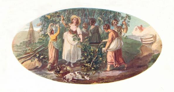 18th Century Style「'Hop Picking', Late 18th Century, (1912)」:写真・画像(13)[壁紙.com]