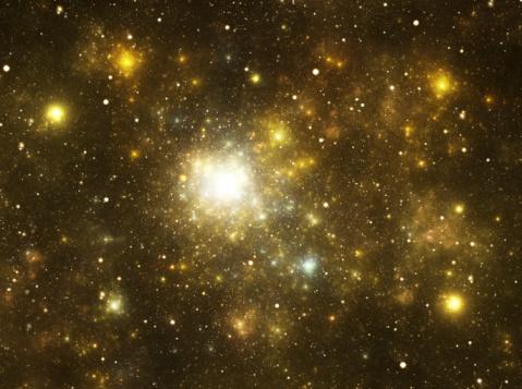 Dust「Yellow galaxy」:スマホ壁紙(1)