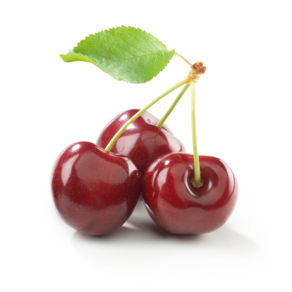 Sweet Food「Cherry trio with stem and Leaf」:スマホ壁紙(5)