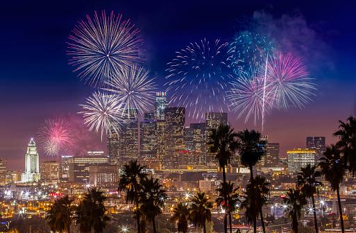 City Of Los Angeles「DTLA Fireworks」:スマホ壁紙(5)
