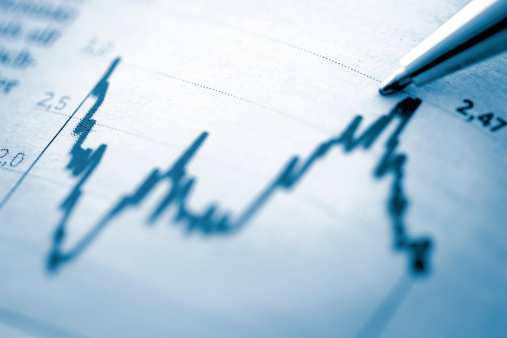 Development「Finance chart with high peak on document」:スマホ壁紙(8)