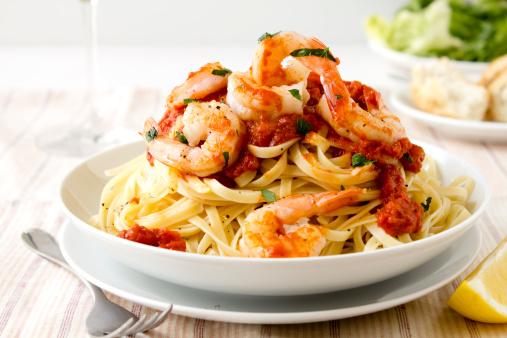 Prawn - Seafood「Pasta with king prawns」:スマホ壁紙(19)