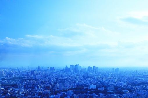 Tokyo - Japan「Shinjuku skyscrapers at dawn」:スマホ壁紙(0)