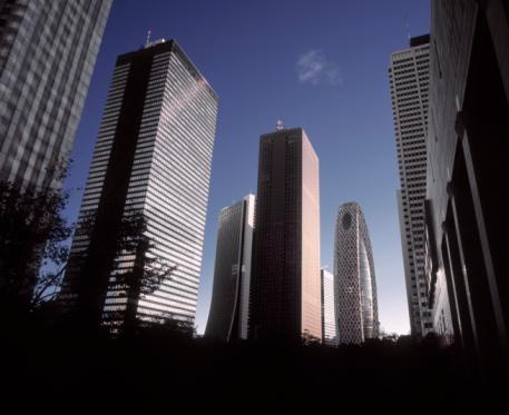 Tokyo - Japan「Shinjuku skyline with skyscrapers at dawn.」:スマホ壁紙(14)