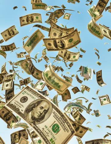 American One Hundred Dollar Bill「Money falling from the sky」:スマホ壁紙(13)