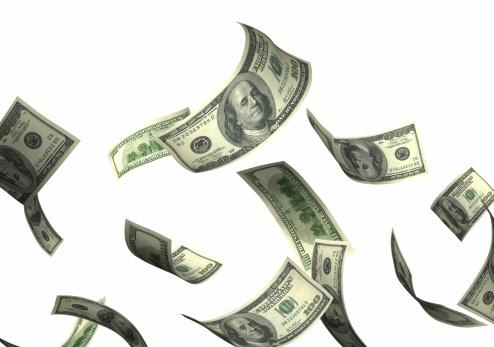 American One Hundred Dollar Bill「Money falling」:スマホ壁紙(19)