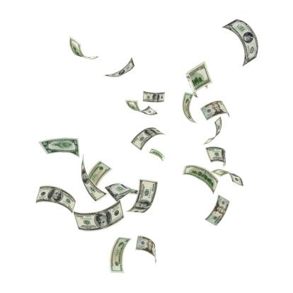 American One Hundred Dollar Bill「Money Falling」:スマホ壁紙(8)