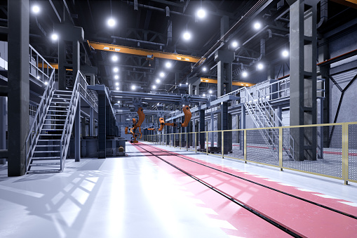 Industry「Engineer control robots in factory of future」:スマホ壁紙(2)