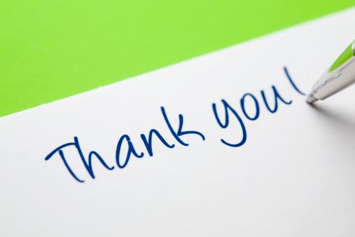 Writing「Thank You Card on Green」:スマホ壁紙(7)