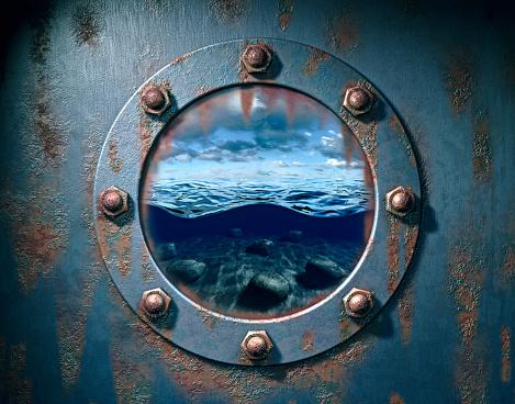 Porthole「Window to Tranquil Sea」:スマホ壁紙(13)