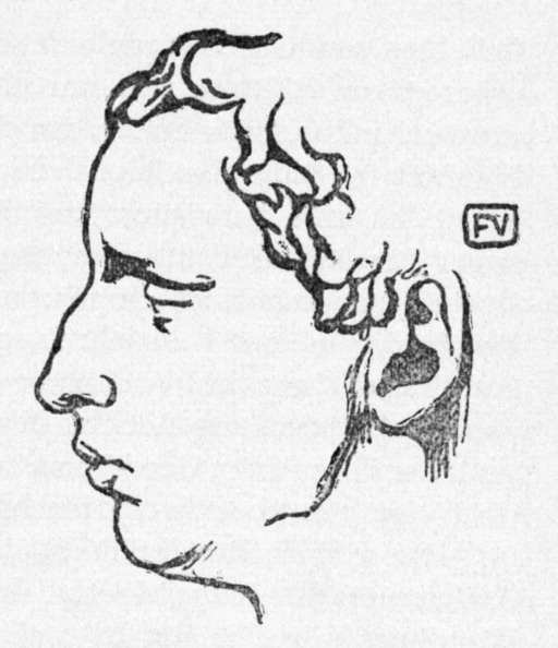1900「Paul Claudel - portrait in profile of the French poet, dramatist and diplomat. Woodcut by the Swiss-French artist Felix Vallotton, 1865-1925.」:写真・画像(1)[壁紙.com]